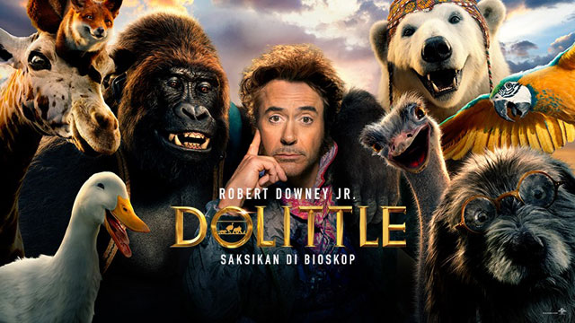 """[Review film] """"Dolittle"""" kisah perjalanan bersama hewan-hewan unik"""