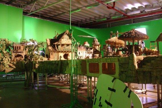 set tempat pembuatan animasi stop motion