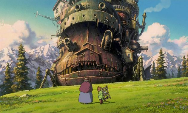 """anime-ghibli-howl's-moving-castle"
